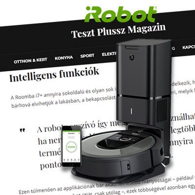 TESZTGYŐZTES ROBOT LETT AZ IROBOT ROOMBA i7